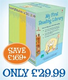 My First Reading Library makes the perfect gift for children who are just starting to learn to read.  Available for a limited period only at just €45 (saving you over €250!), this amazing library contains 50 paperback editions from the Usborne Very First Reading and First Reading series. These books are specially designed for children to share with an adult and, gradually begin to get more complex, as little ones begin to tackle reading alone.