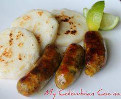 My Colombian Cocina - Chorizos Santarrosa Colombian Cuisine, Colombian Recipes, Chorizo Recipes, Comida Latina, Island Food, Watermelon Recipes, Appetisers, International Recipes, Food Inspiration