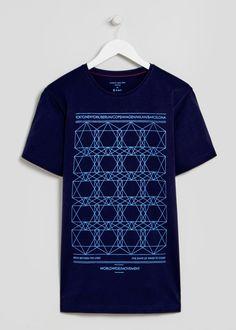 Hexagon Geo Print T-Shirt - Matalan