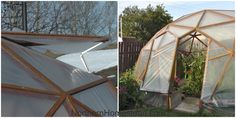 How to build a GeoDome greenhouse. What plan to go by and tools needed. How to assemble and cover the Geodesic Dome. Winter Greenhouse, Greenhouse Interiors, Indoor Greenhouse, Greenhouse Plans, Greenhouse Gardening, Cheap Greenhouse, Indoor Garden, Geodesic Dome Greenhouse, Greenhouse Effect