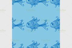 seamless fish by frescomovie on @creativemarket