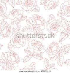 Image result for pink floral line drawing