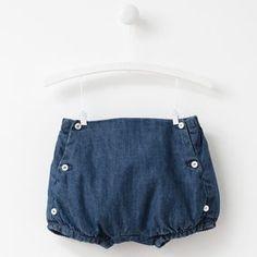 Cotton denim shorts