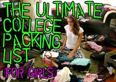 ultimate college packing list: good to have for packing up for dorm or apartment