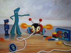 April Toys, oil on canvas, 18x24, 2011 by Karin Rabuka