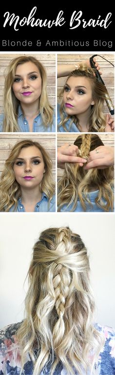 BRAIDED MOHAWK BEACH WAVES ---> check out the video to see how to do this…