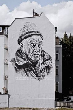 Realistic Giant Portraits on Murals by ECB – Fubiz Media