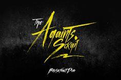 Againts Script Font Duo @creativework247