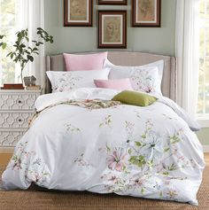 Luxury Quality Cotton Embroidery Flower Bedding set – I sell what I love Queen Size Duvet Covers, White Duvet Covers, Queen Bedding Sets, Luxury Bedding Sets, Bed Duvet Covers, Comforter Sets, King Comforter, Cotton Bedding Sets, Bedding Sets Online