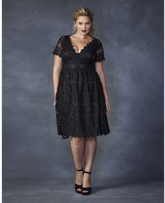 Love!  Plus Size Low-cut Crochet Dress