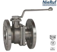 Edelstahl Kugelhahn für das Absperren von Rohrleitungssystemen. NieRuf Industriearmaturen
