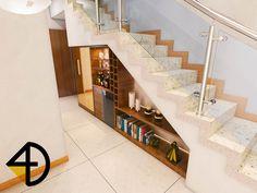 4D Arquitetura e Design: Decoração da escada - Apresentação para Arquiteta Silvana