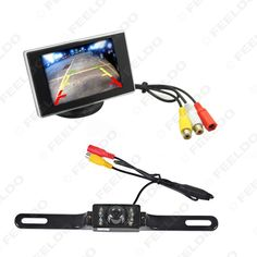"""Digtal 3.5"""" TFT LCD Standalone Reverse Monitor + License Plate Night Vision Camera Car Rear View System #FD-3344"""