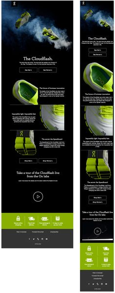 Responsive email design from On Running Responsive Email, Responsive Web Design, Mailer Design, Email Layout, Email Design Inspiration, Email Templates, Editorial Design, Gd, Email Marketing