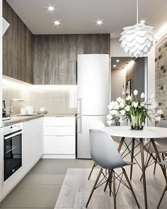 VK is the largest European social network with more than 100 million active users. Modern Kitchen Design, Room Interior, Interior Design Living Room, Small Apartment Kitchen, Home Decor Kitchen, Apartment Design, Home Decor Accessories, Sweet Home, House Design
