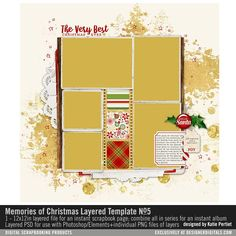 Frosted Christmas Paper Pack Vintage Neutral Patterned Papers
