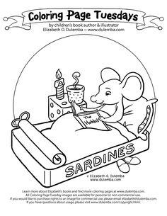 National Library Week Coloring Pages Printables