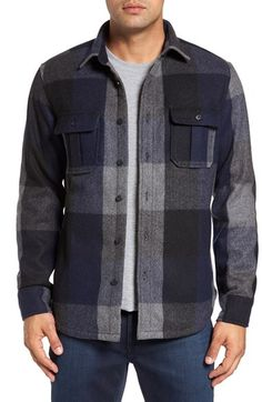 Free shipping and returns on Nordstrom Men's Shop Wool Blend Shirt Jacket (Regular & Tall) at Nordstrom.com. For serious layering for the serious outdoorsman, go for a moderate wool-blend flannel shirt jacket complete with bellowed chest pockets.