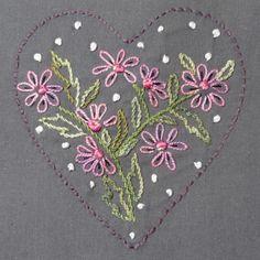 Coeur et fleurs