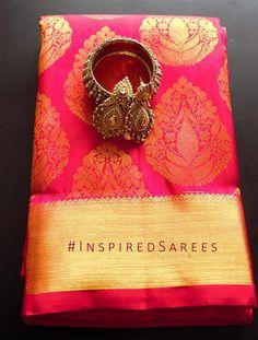 Over - Kanjivaram / Saree Store: Fashion Kanjivaram Sarees, Kanchipuram Saree, South Indian Bride, Indian Bridal, Indian Dresses, Indian Outfits, Indian Clothes, Indian Silk Sarees, Indian Attire