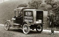Du Pont Co. Explosives Truck Pennsylvania Coal Fields 1916 Canvas Print / Canvas…