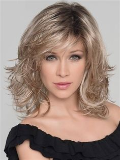 Ocean Wig by Ellen Wille is a mono part wig in a synthetic fiber, in a layered shag style. Frontal Hairstyles, Wig Hairstyles, Spring Hairstyles, Wedding Hairstyles, Hairstyles 2016, Fancy Hairstyles, Hairstyle Ideas, Hair Ideas, Medium Hair Styles