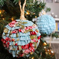 With their dreamy ruffles and frills, these adorable ornaments from Simply Notable exude girlish charm. Armed with basic sewing know-how, it's easy to follow Carli's step-by-step guide to create the perfect ruffled ornament./