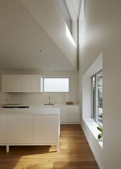 The kitchen enjoys morning light from two east-facing windows. Courtesy of Peter Bennetts.