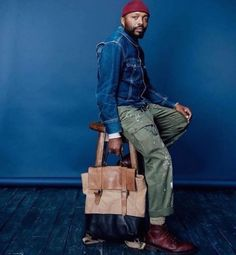 Perfect Denim, Work Pants, Boots, and Bag