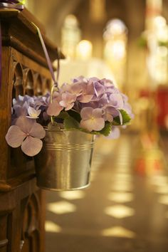 Pretty idea for church flower decorations.