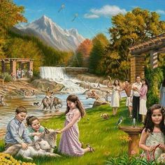 JW paradise on earth photo Life In Paradise, Paradise On Earth, Jehovah Paradise, Paradise Pictures, Earth Photos, New Earth, Bible Truth, Jehovah's Witnesses, Gods Plan