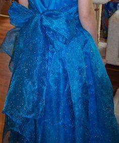 Back of halter style prom dress