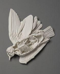 handbuild porcelain Icarus sculpture by kate macdowell Kate Macdowell, Colossal Art, Art Sculpture, Dark Art, Ceramic Art, Sculpting, Pottery, Fine Porcelain, Porcelain Tiles