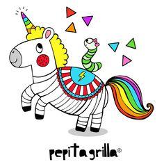 www.pepitagrilla.com Unicorns, Snoopy, Illustrations, Fictional Characters, Art, Art Background, Kunst, Unicorn, Illustration