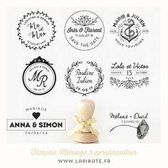 Découvrez notre collections de tampons mariage personnalisés dès 26€. Motif champêtre, folk bohème ou industriel. Votre tampon mariage à apposer sur tout ce qui vous plaira.