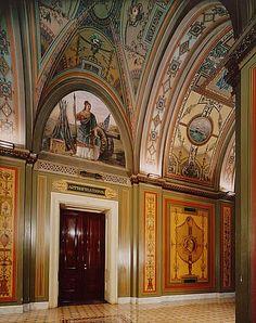 trompe l'oeil wallpaper slanted ceiling - Google Search
