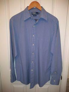d46651312 Men's Polo Ralph Lauren Blue Button Down Shirt Size 16-34 #fashion #clothing