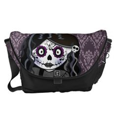 Purchase your next Gothic messenger bag from Zazzle. Choose one of our great designs and order your messenger bag today! Cool Messenger Bags, Girls Messenger Bag, Gothic Girls, Diaper Bag, Personalized Gifts, Skull, Stylish, Anime, Shopping