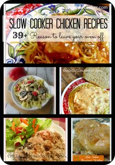 BEST Slow Cooker Chicken Breast Recipes! I love keeping my oven off in the summer!