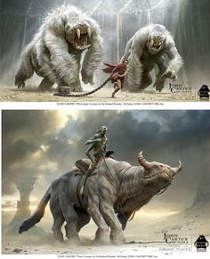 Creatures from John Carter by Michael Kutshe