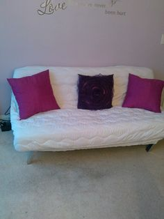 A Mattress Pad Cover Makes Great Upholstery Change To Futon