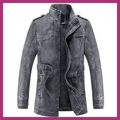 2017 Jacket men Slim Warm mens washed Leather Motorcycle Biker Jackets  Standing Collar Coat jaqueta masculina 359660ab84b