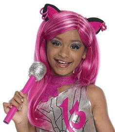 Kids' Costume Wigs - Rubies Monster High Frights Camera Action Catty Noir Wig Child Size ** To view further for this item, visit the image link.