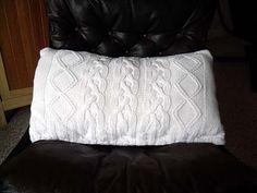 Sweater pillow tutorial