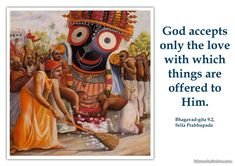Acceptance of Offerings By The Lord  http://harekrishnaquotes.com/srila-prabhupada-on-acceptance-of-offerings-by-the-lord/