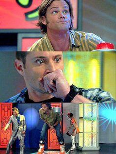 """The look of utter horror on Dean's face. xD """"NUT-A-CRACKAHHHH!!!!!"""""""