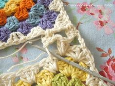 joining granny squares #crochet