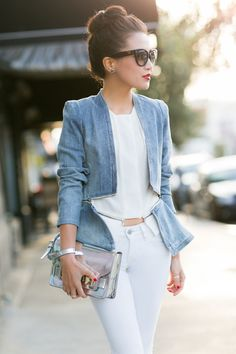 White Palette :: Flare denim jacket - cool jacket!