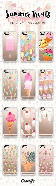 12 must have ice cream iPhone 6s protective phone cases | Click through to see more ice cream food iPhone phone case ideas >>> www.casetify.com/... | Casetify