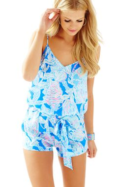 DEANNA ROMPER - BAY BLUE INTO THE DEEP BY LILLY PULITZER
